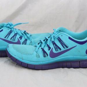 Nike Free 5.0 Running Athletic Shoes Women Size 8